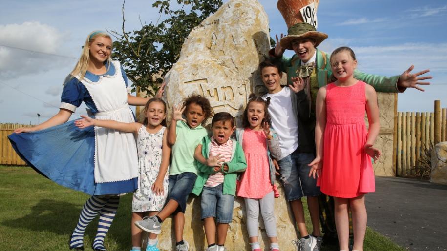 family at adventure wonderland