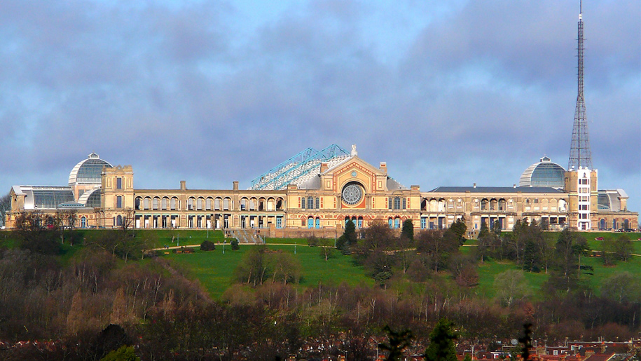 front view of alexandra palace