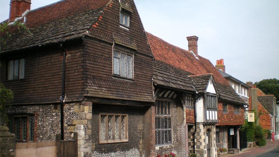 exterior of tudor manor house