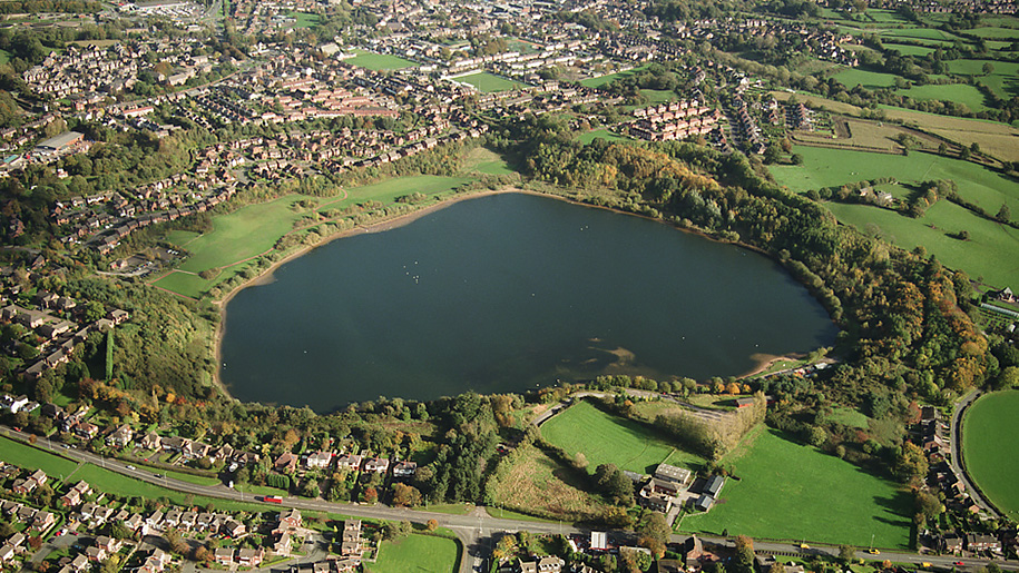 astbury country park aerial view