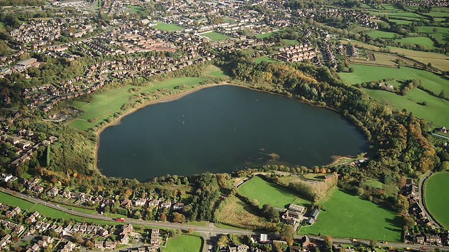 astbury country park aerial view