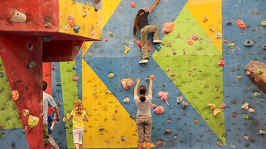 children climbing walls