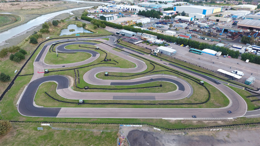 aerial view of track