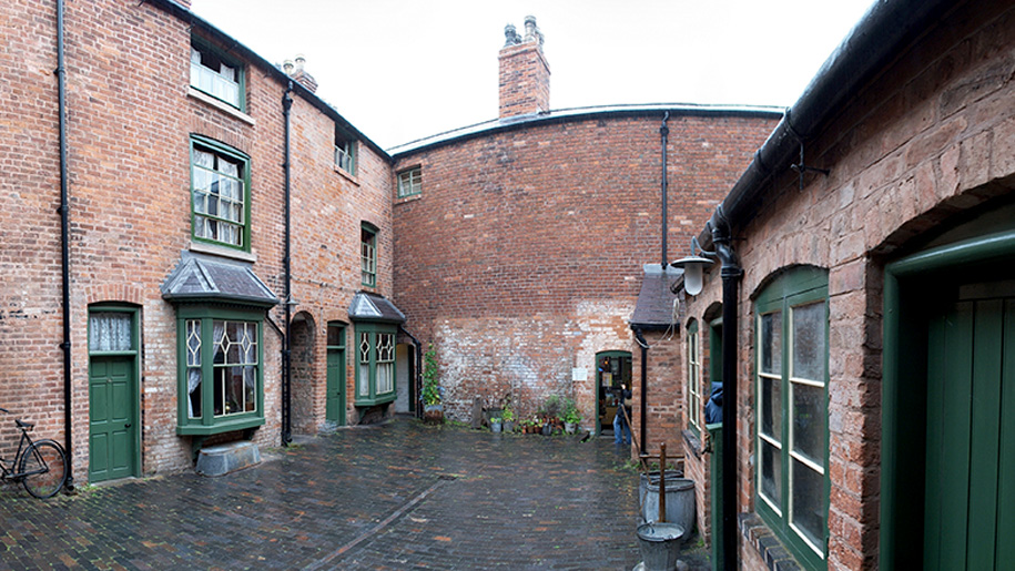 courtyard of houses