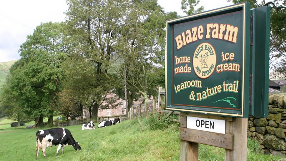blaze farm sign
