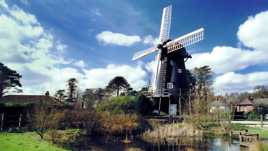 view of black windmill