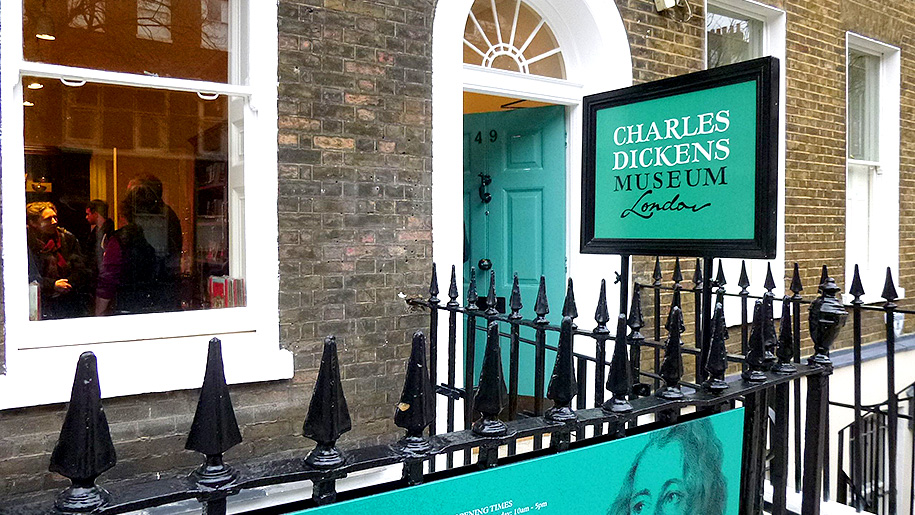 exterior of charles dickens museum