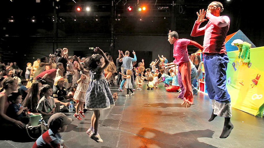 children participating during show