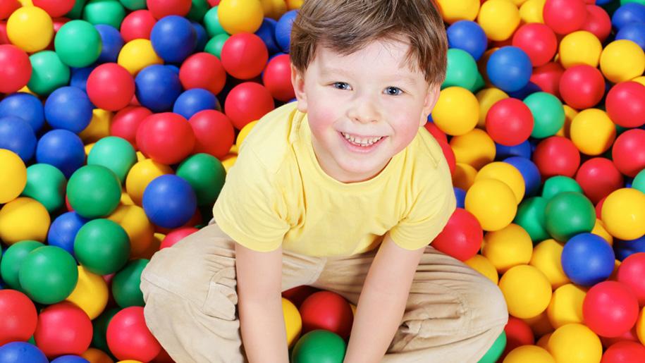 boy in ball pool