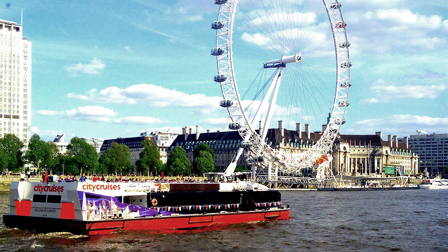 City Cruises London boat and London Eye