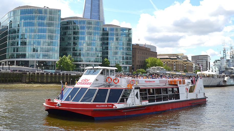 City Cruises London boat on Thames River