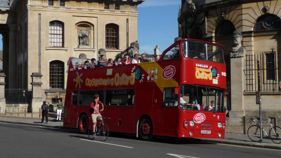 double decker opentop bus