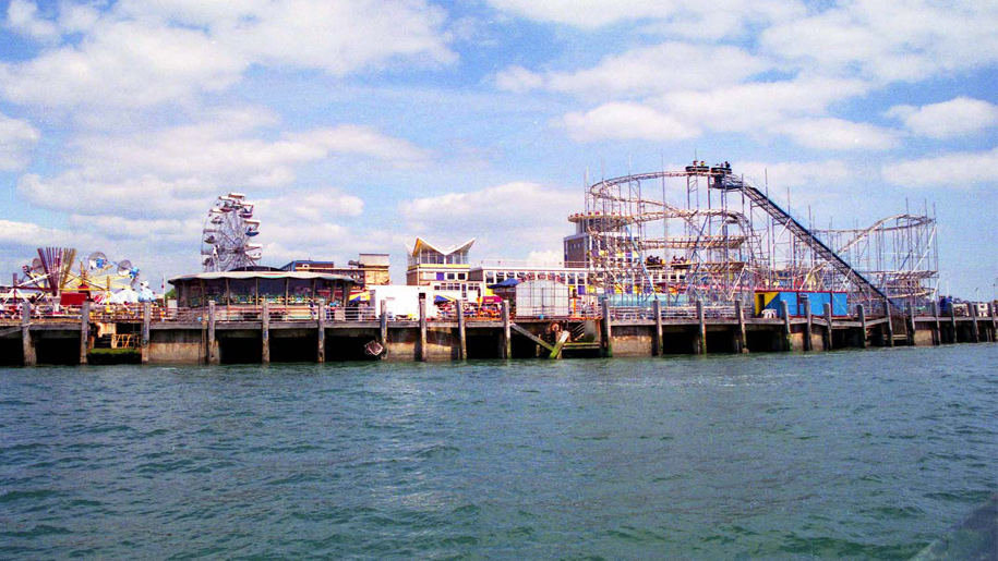 theme park on pier