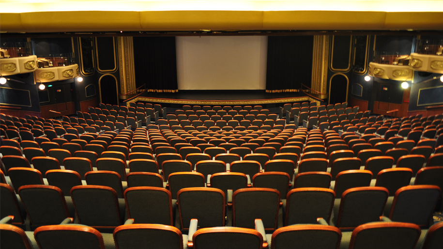theatre seats down to screen