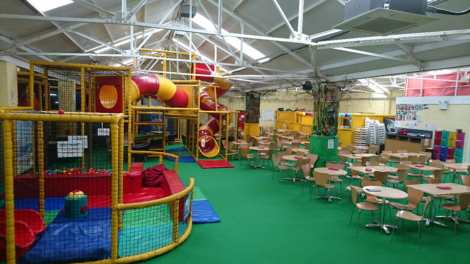 Crazy Tykes play area and tables