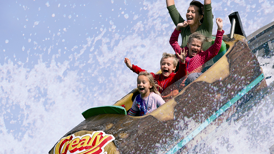 Crealy Adventure Park log flume ride