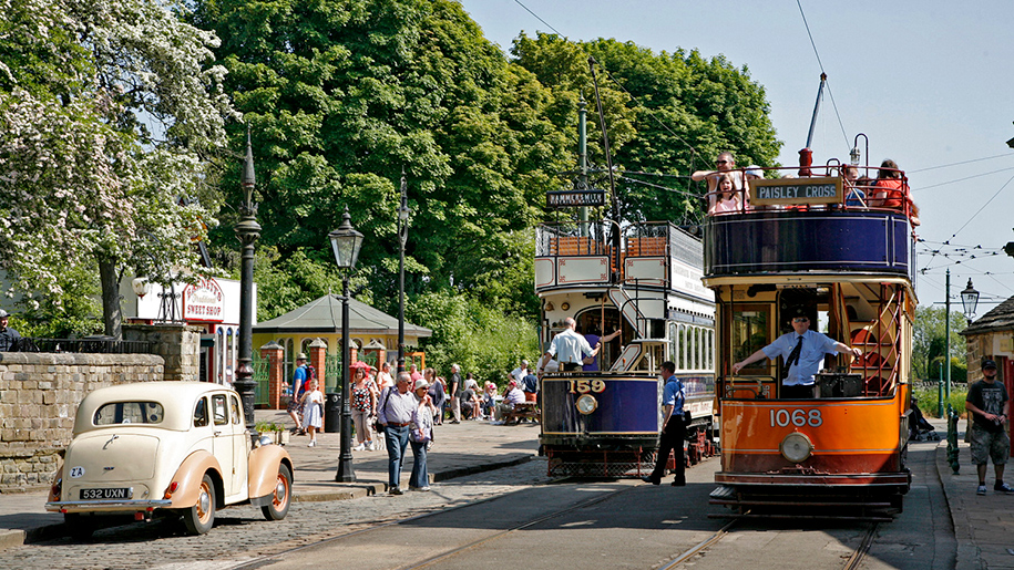 Crich Tramway Village People in village