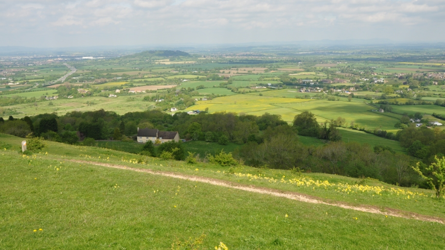 view from crickley hill