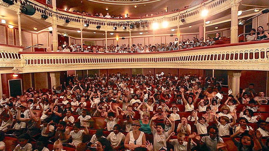 children in the theatre