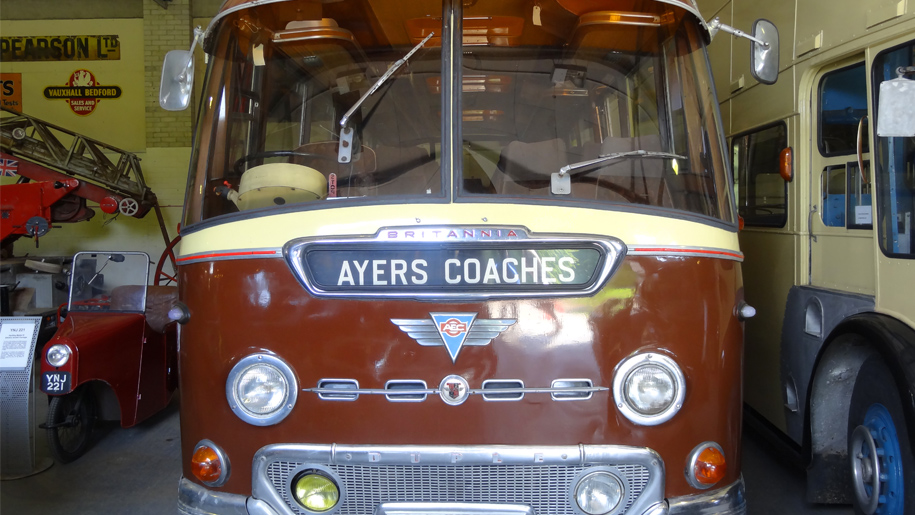 ayers coaches front of bus