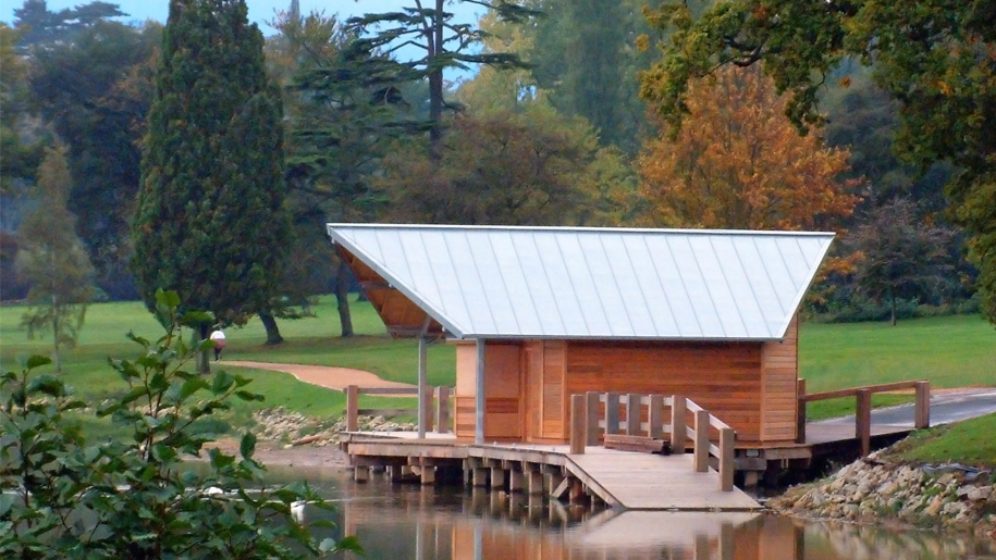 boathouse on river