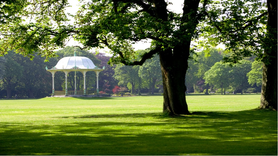 park with bandstand