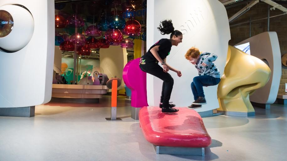 Eureka Childrens Museum kids jumping