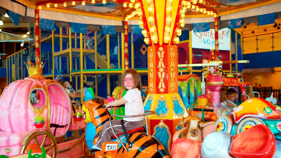 girl on carousel