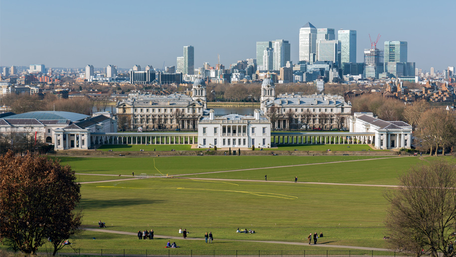 panoramic view of greenwich
