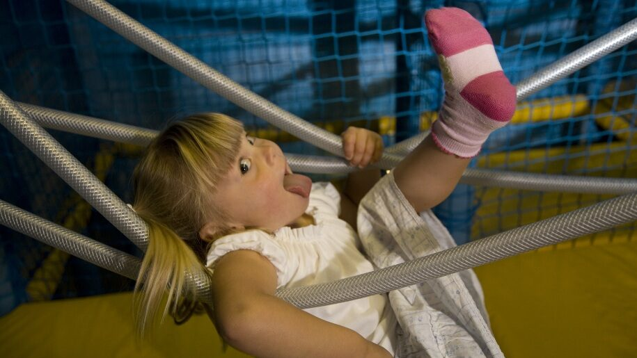 Young child in soft play area at Guildford Spectrum