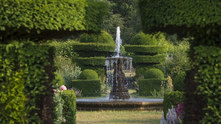 Fountain in garden at Hatfield House