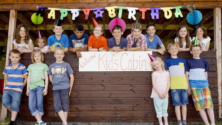 children celebrating a birthday at Hatfield Park Farm