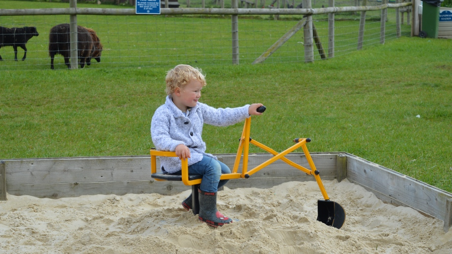 Boy in play park