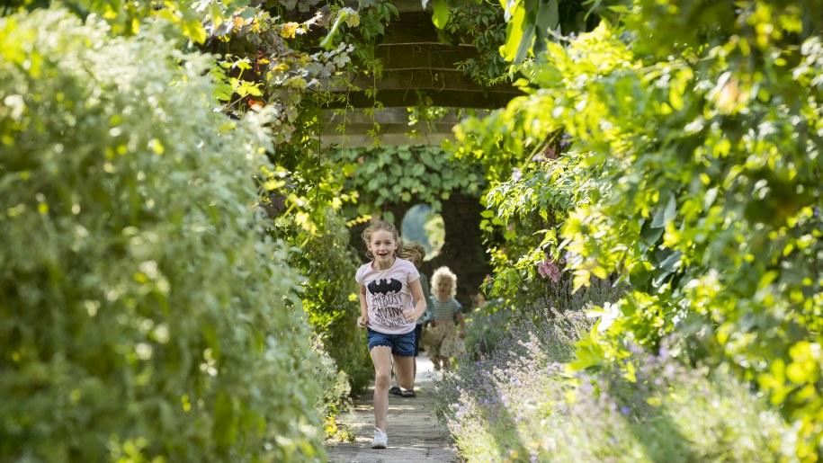 Children running at Hestercombe