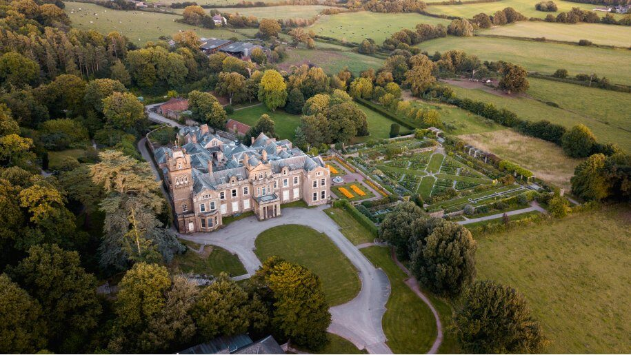 Hestercombe aerial view