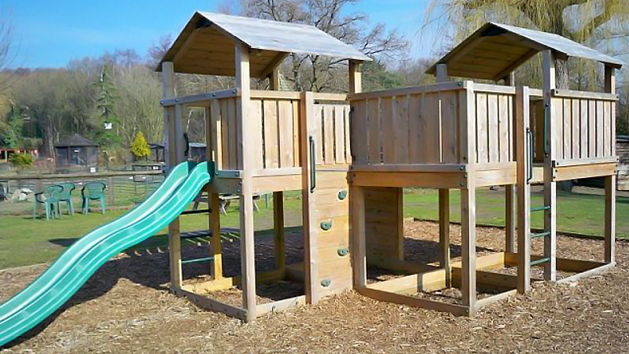 wooden play stucture
