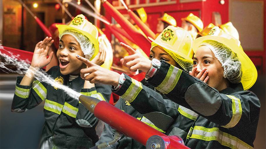 kids being firemen