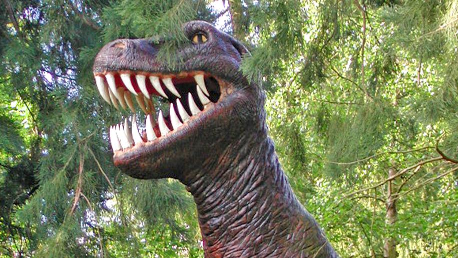 Knebworth House dinosaur