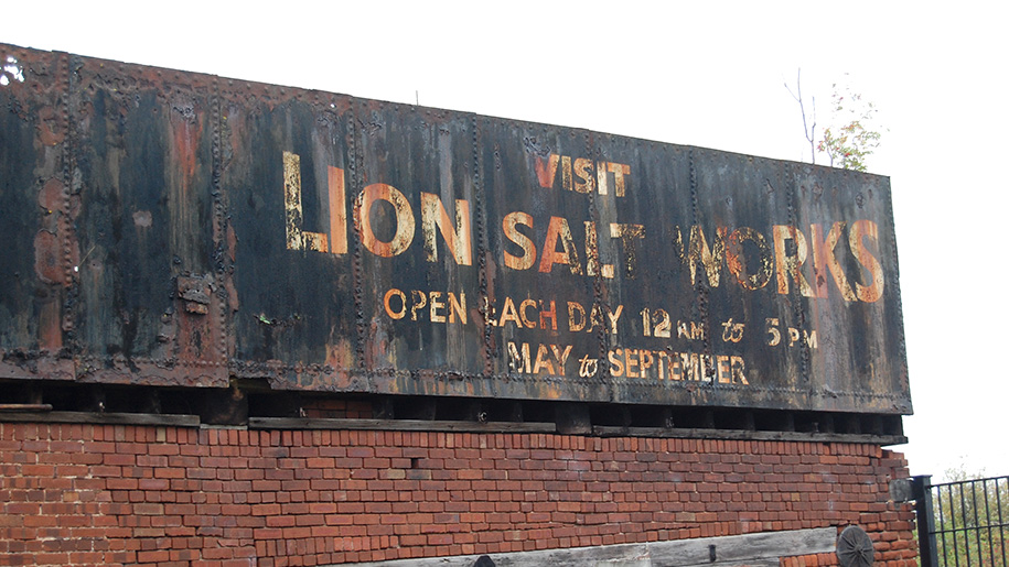 lion salt works sign