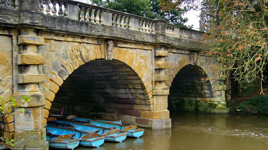 boats under the bridge
