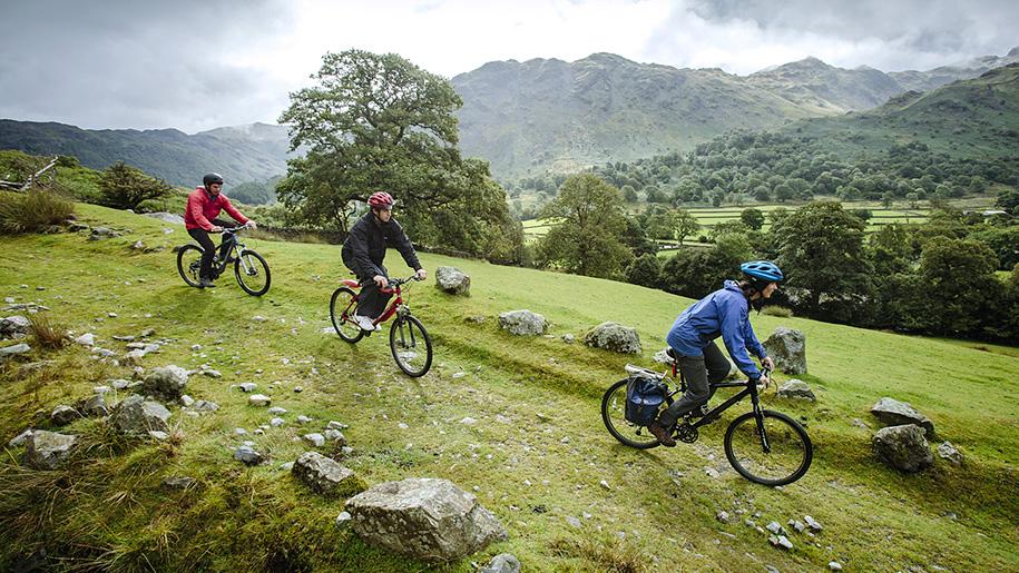 cycling down hill