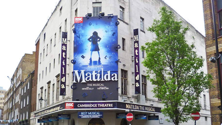 exterior shot of matilda the musical