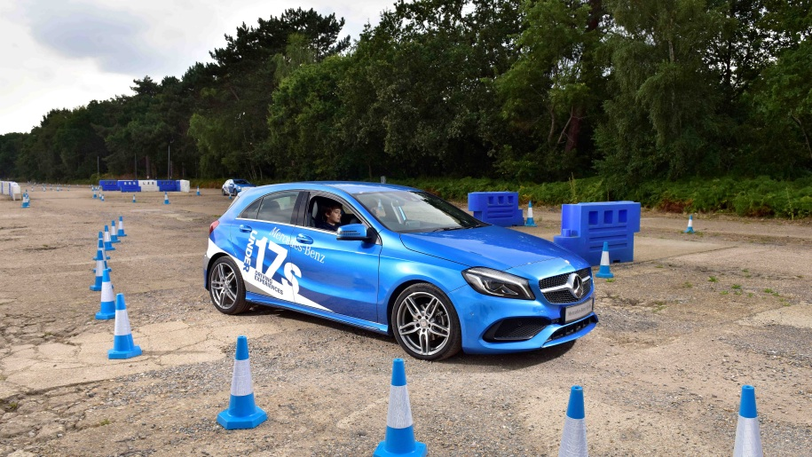 Mercedes Benz World young drivers car