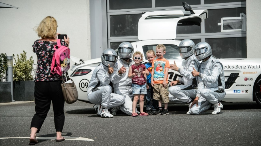 children at Mercedes Benz World