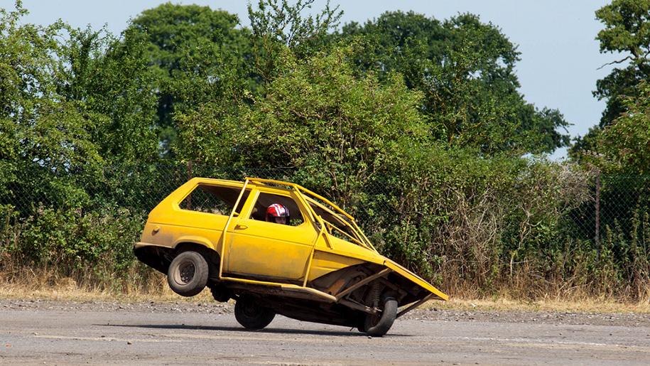 car on race circuit