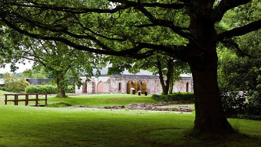 museum through trees