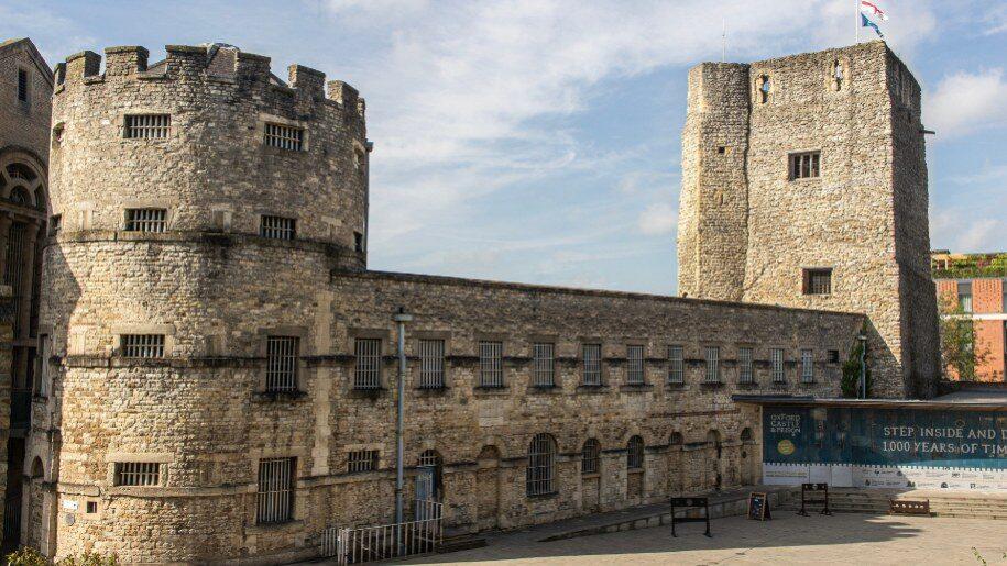 Exterior view of Oxford Castle & Prison