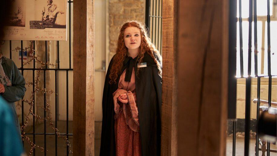 Costumed guide at Oxford Castle & Prison