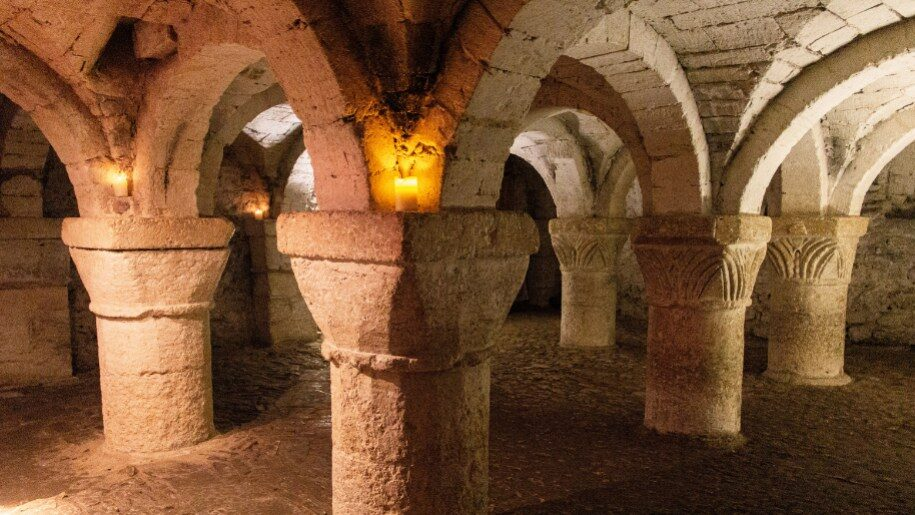 Crypt of St George's Chapel at Oxford Castle