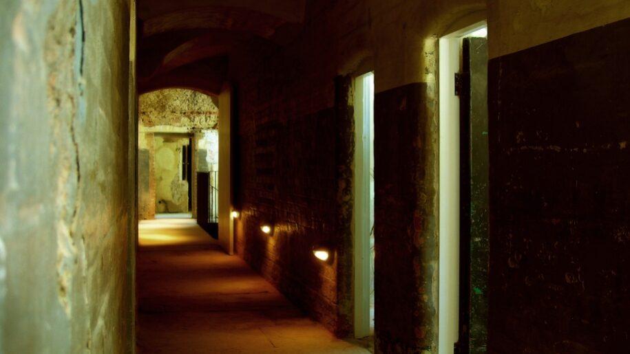 Prison corridor at Oxford Castle & Prison